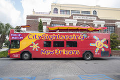 Hop On Hop Off City Sightseeing Tour Bus, New Orleans Stock Image