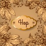 Hop. Vector illustration. Royalty Free Stock Photos