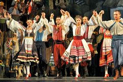 Hopak taniec w Ukraina obrazy royalty free