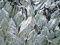 Hopar-Gletscher nahe prestine Hunza-Tal, Karakoram-Landstraße, Pakistan lizenzfreie stockfotos