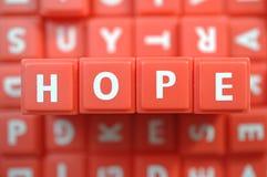 Hope. Alphabet Blocks spelling word hope Stock Image