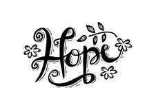 hope royaltyfri illustrationer