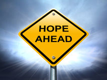 Hope ahead road sign Stock Photos