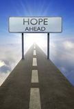 Hope ahead road sign Royalty Free Stock Photos