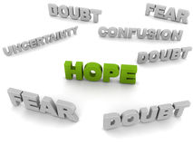 Hope amongst doubt Stock Image