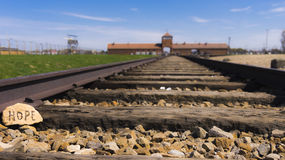 Hope in Auschwitz concentration camp Royalty Free Stock Image