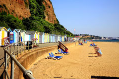 Hope beach, Shanklin, Isle of Wight. The sheltered beach of Hope beach at Shanklin, Isle of Wight Royalty Free Stock Photos