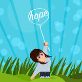 Hope Beams Me Up Stock Image