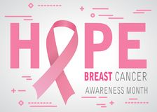 Hope breast cancer awareness tape Royalty Free Stock Image