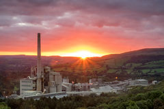 Hope Cement Works. Peak District, Derbyshire, England Royalty Free Stock Photos