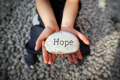 Hope of a child stock image