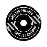 Hope For Children rubber stamp. Grunge design with dust scratches. Effects can be easily removed for a clean, crisp look. Color is easily changed royalty free stock images