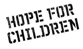 Hope For Children rubber stamp Stock Image