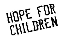 Hope For Children rubber stamp Stock Images