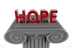 Hope on column concept Stock Photos
