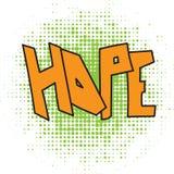 Hope comic word Royalty Free Stock Photos