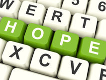 Hope Computer Keys As Sign Of Wishing And Hoping Royalty Free Stock Image