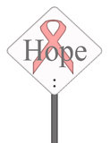 Hope Concept Sign Pink Ribbon Cancer Stock Photos