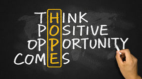 Hope concept: think positive opportunity comes Royalty Free Stock Photography