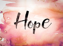 Hope Concept Watercolor Theme Stock Images