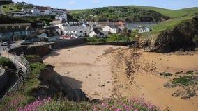 Hope Cove beach South Devon England UK stock video