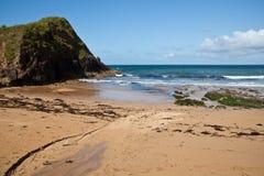 Hope cove, Devon, England. Hope cove beach a popular family destination location during English Summer holidays, Devon, England, United Kingdom royalty free stock photo
