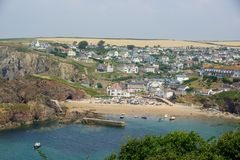 Hope Cove, Devon,. Hope Cove is a small seaside village in South Hams District, Devon, England. It is located west of Salcombe stock photo