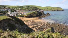 Hope Cove South Devon England UK stock footage