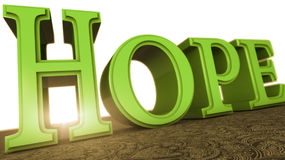 Hope. 3d design of 3d words Royalty Free Stock Photography