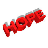 Hope 3d red letters Stock Images