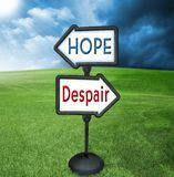 Hope and despair Royalty Free Stock Image