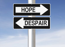 Hope or Despair Royalty Free Stock Photography