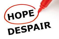 Hope or Despair Red Marker royalty free stock photography