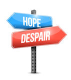 Hope, despair road sign illustration design Stock Photos