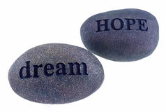 Hope and dream rocks Royalty Free Stock Images