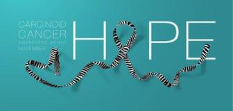 hope E r November är cancermedvetenhet royaltyfri illustrationer