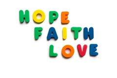 Hope faith love Stock Photos