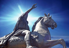 Hope & Glory. Composing of a horseman statue Stock Photo