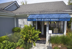 Hope& Grace Winery en Napa Valley Fotografía de archivo libre de regalías