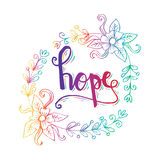 HOPE hand lettering. Stock Image