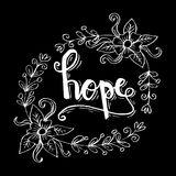 HOPE hand lettering. Royalty Free Stock Photo