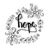 HOPE hand lettering. Stock Photos
