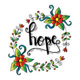HOPE hand lettering. Stock Photography