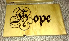 Hope. Handmade Wood burned sign royalty free stock photography