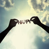 Hope for happiness. Everyone hope for success in life happiness Royalty Free Stock Image