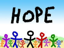 Child's Illustration of Hope  Royalty Free Stock Images