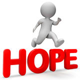 Hope Jump Means Wanting Wishful And Wish 3d Rendering Royalty Free Stock Image