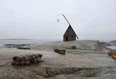 Hope and Light. Old lighthouse at Verdens Ende (World's End) Tjoeme, Norway Royalty Free Stock Photography