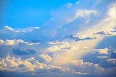 Hope light. A light that shines down on the cloud makes sense so beautiful Stock Photography
