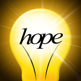 Hope Lightbulb Represents Want Wishes And Wants Royalty Free Stock Image